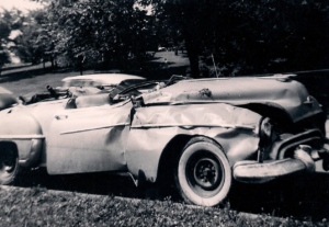 Wrecked 1950 Olds Convertible